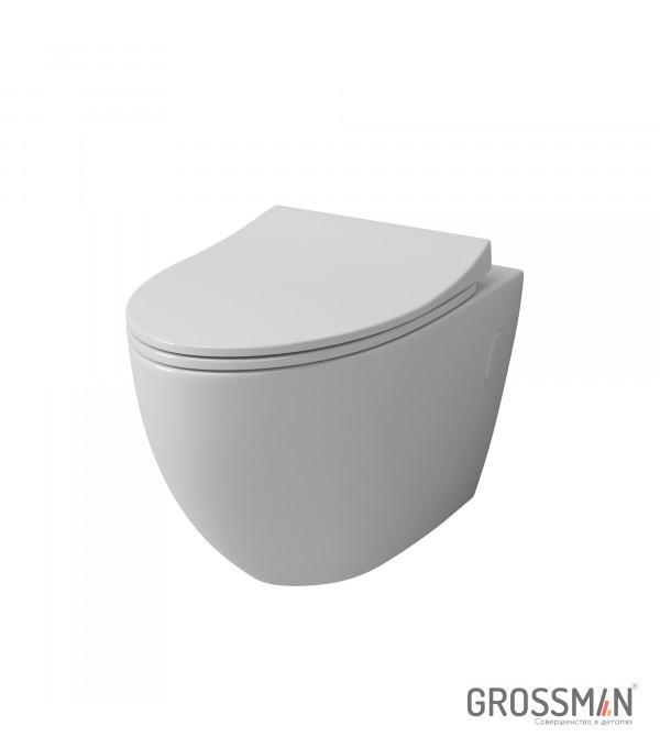 Унитаз подвесной Grossman GR-4451S с тонкой крышкой