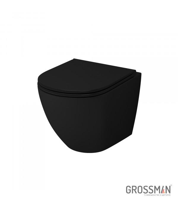Унитаз подвесной Grossman GR-4455BMS черный (матовый)