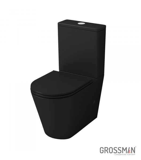 Унитаз напольный Grossman GR-4449BMS черный (матовый)