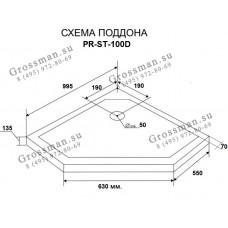 Душевой уголок Grossman PR-100SD