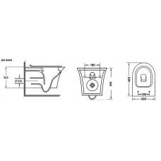 Унитаз подвесной Grossman GR-4444S с тонкой крышкой