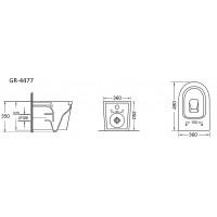 Унитаз подвесной Grossman GR-4477S