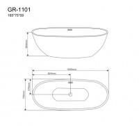 Отдельностоящая ванна Grossman GR-1101
