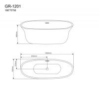 Отдельностоящая ванна Grossman GR-1201