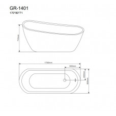 Отдельностоящая ванна Grossman GR-1401