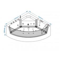 Акриловая ванна Grossman GR-15000