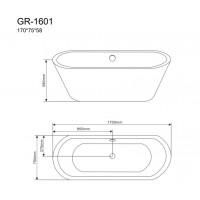 Отдельностоящая ванна Grossman GR-1601