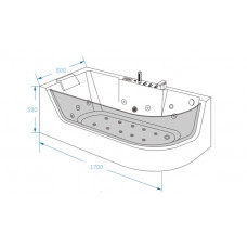 Акриловая ванна Grossman GR-17000 L