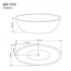 Отдельностоящая ванна Grossman GR-1701