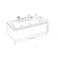 Акриловая ванна Grossman GR-17095 L