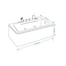 Акриловая ванна Grossman GR-17095 R