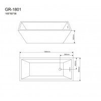 Отдельностоящая ванна Grossman GR-1801