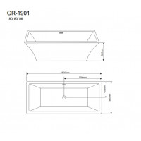 Отдельностоящая ванна Grossman GR-1901
