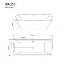 Отдельностоящая ванна Grossman GR-2001