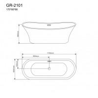 Отдельностоящая ванна Grossman GR-2101